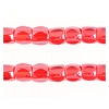 3 Cut Beads 10/0 Luster Transparent Red